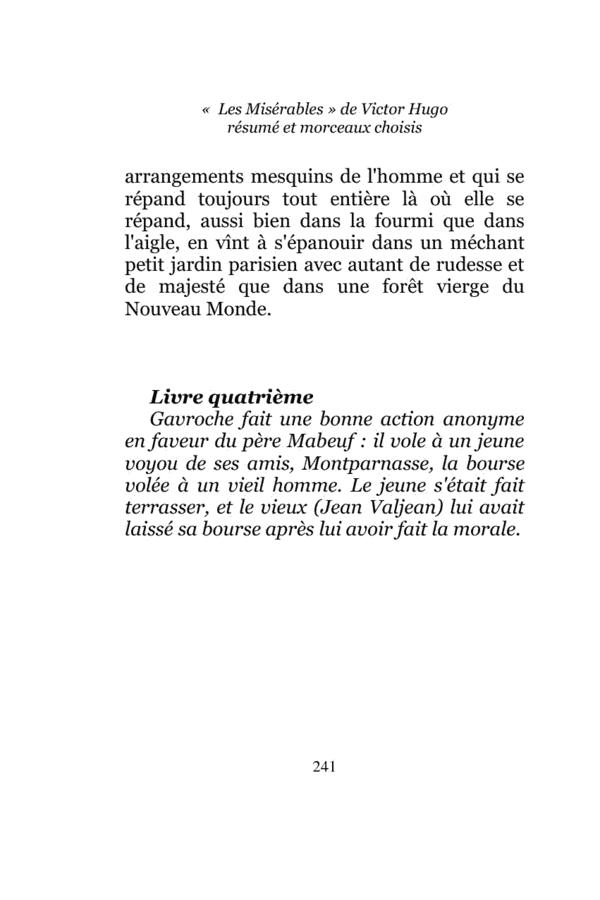 """Extrait de l'ebook """"""""Les Misérables"""" de Victor Hugo ..."""