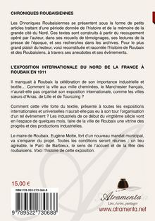 "4ème de couverture de ""L'exposition internationale du Nord de la France Roubaix 1911"""