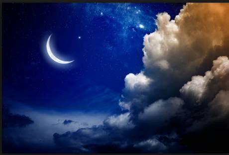 """Résultat de recherche d'images pour """"les étoiles et la lune dans le ciel"""""""