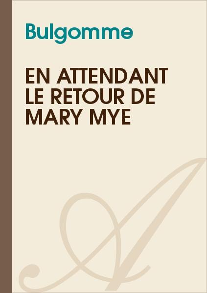 Bulgomme - En attendant le retour de Mary Mye